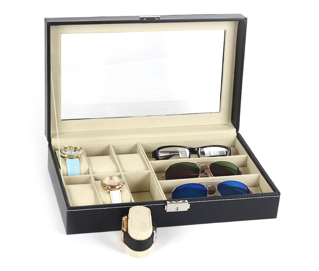 Коробка Органайзер Шкатулка Очки Часы 9 шт.