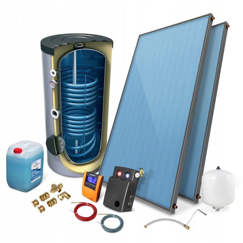 Zestaw solarny kolektor słoneczny2,0 PREMIUM 2/200
