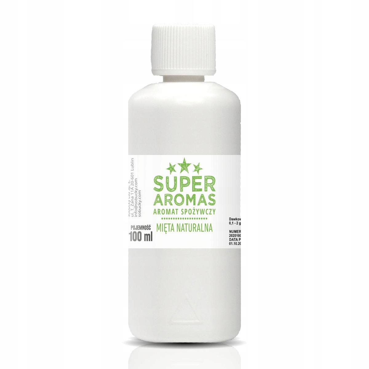 SUPER AROMAS Aromat spożywczy MIĘTA NATURALNA 100