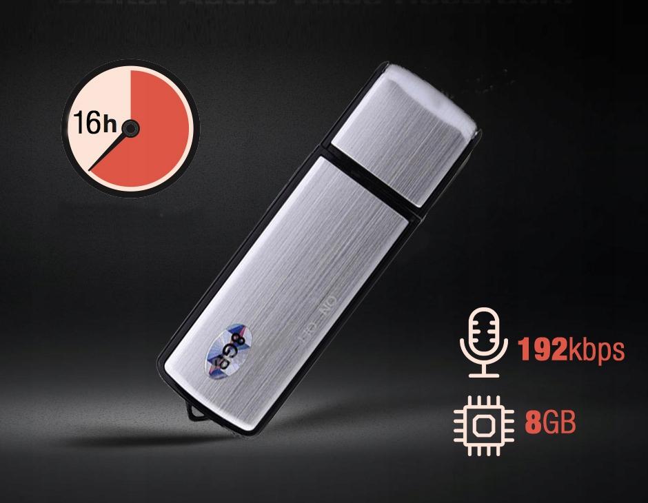 MINI DYKTAFON PENDRIVE PODSŁUCH SZPIEGOWSKI USB Wysokość produktu 0.9 cm