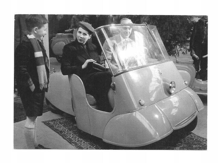 Открытка - Самокат трехколесный двухколесный / 50см.