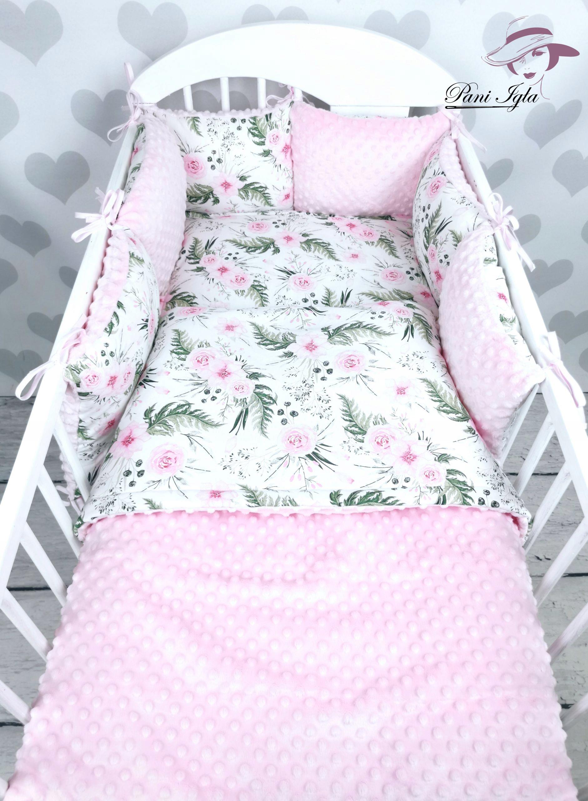 Набор кроватки из хлопка и минки