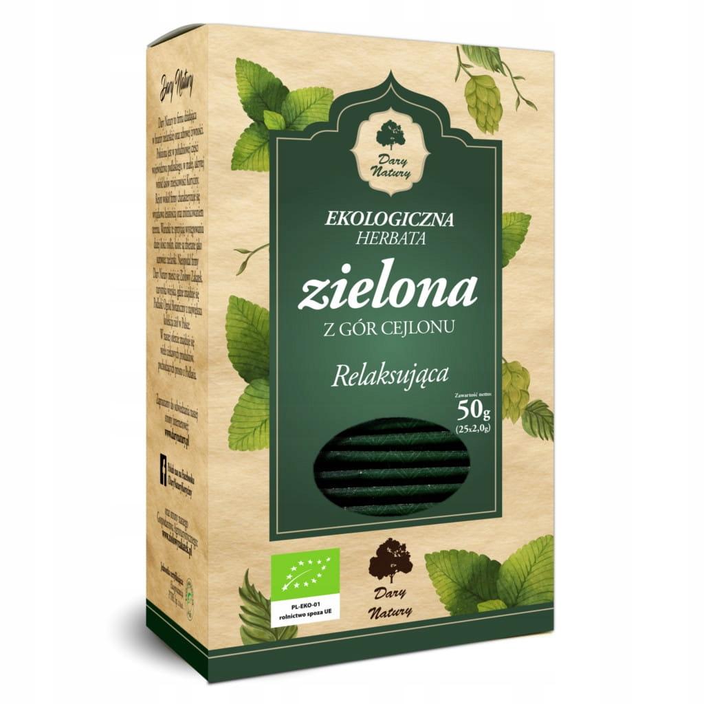 Расслабляющий зеленый чай 50 г Эко Дары природы