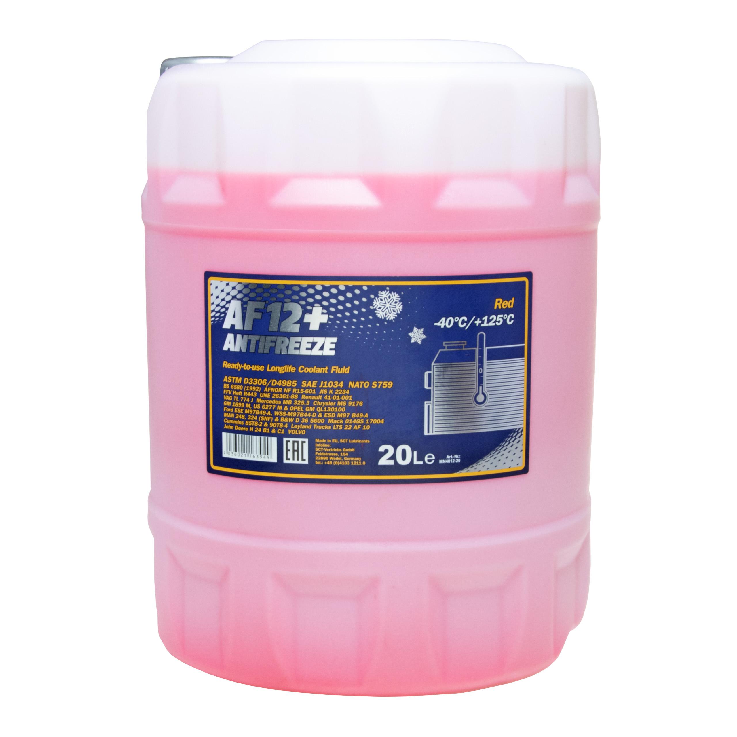 Антифриз Mannol 20Л до-40C Розовый 912 G12+