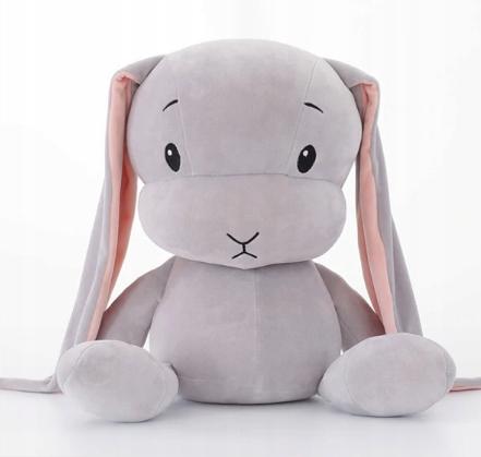 Bábika, zajačik 50 cm s menom + SRDCE