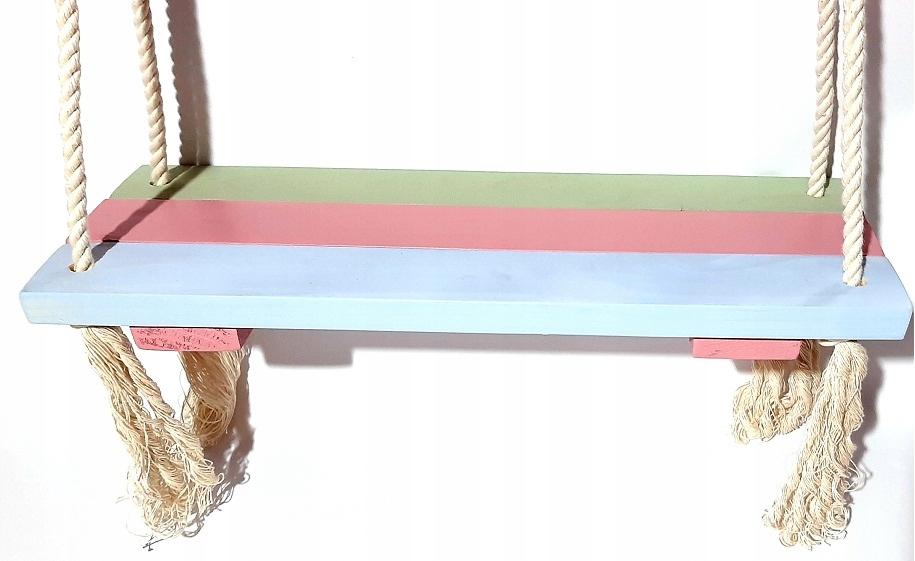 Качели деревянные пастельные 48х18 см