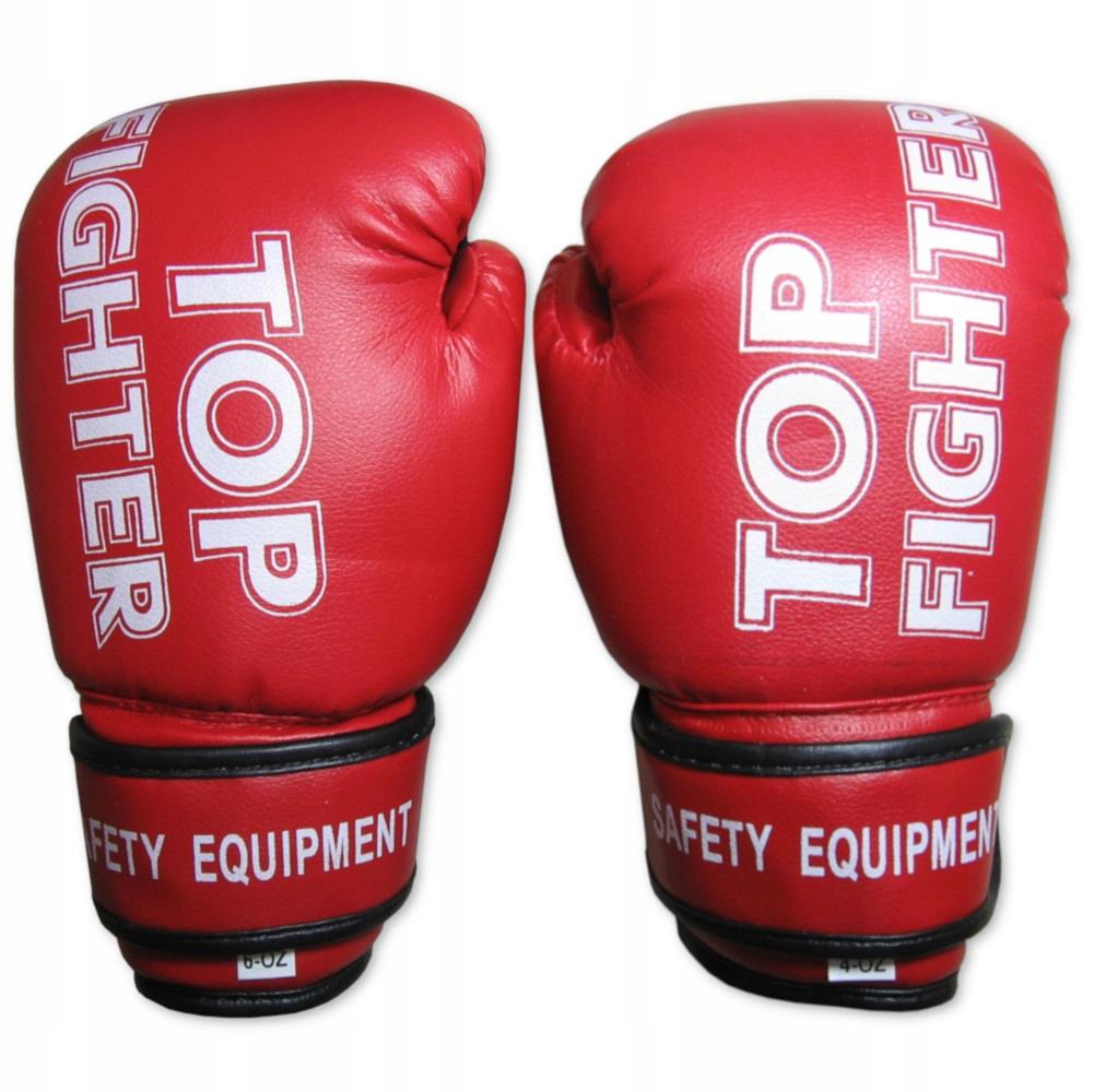 Боксерские перчатки для детей красный 8 унций