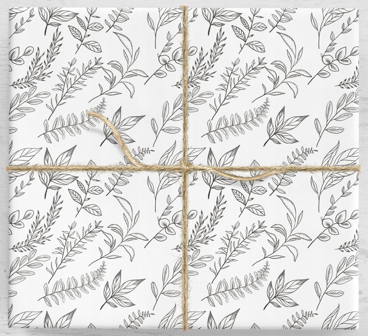 Kvetinový darčekový baliaci papier 2 - 10 listov