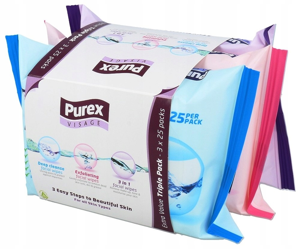 PUREX Набор салфеток для очистки очистки для очистки макияжа