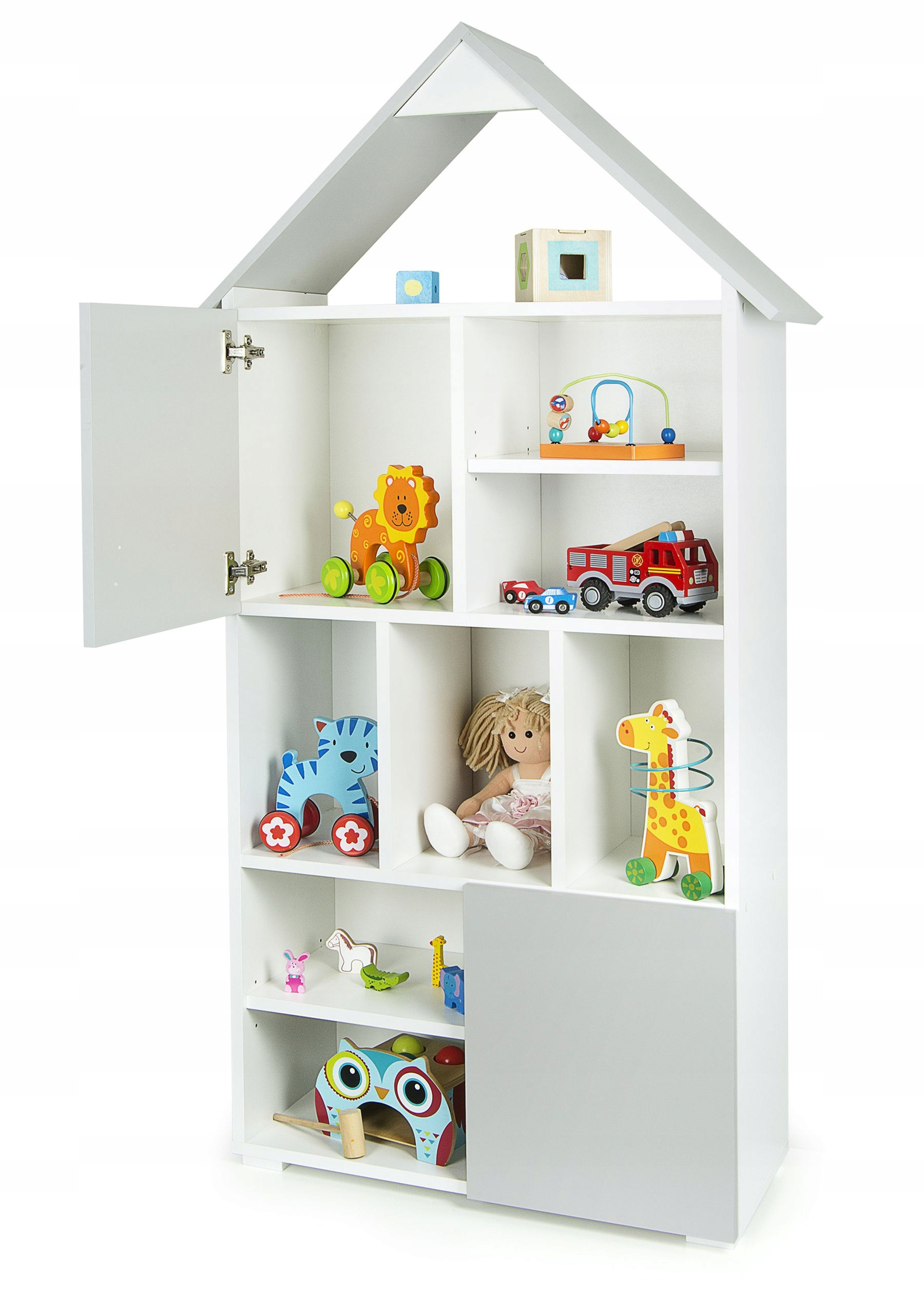 Книжный шкаф для дома с двумя шкафами Super Chata 161 см