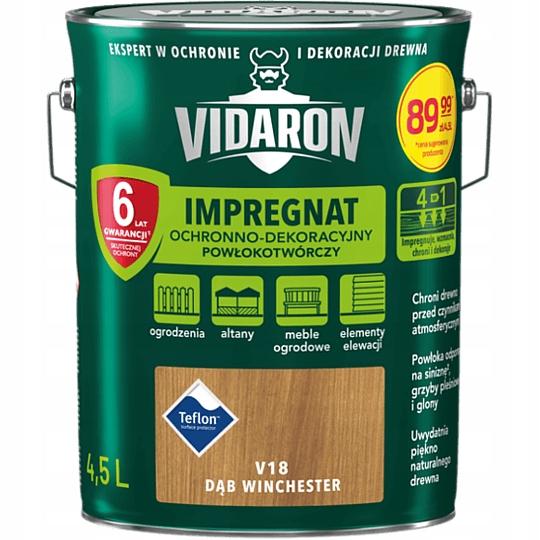 VIDARON Защитная пропитка V18 Winchester Oak 4.5л