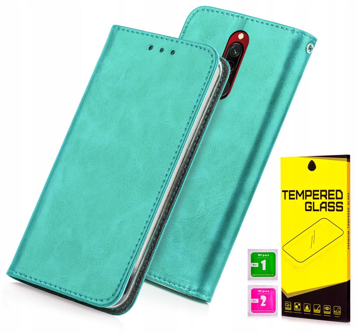 Etui Portfel Blue Moon Xiaomi Redmi 8 Szkło 9H