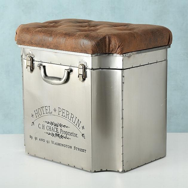 24h planeta dizajnový puf Pouf vintage retro truhlica