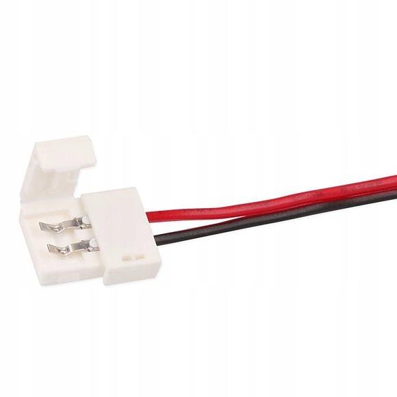 Коннектор светодиодной ленты односторонний 8мм с проводом