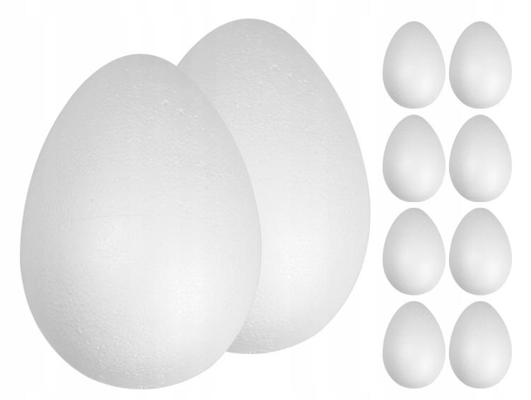 ЯЙЦА из ПЕНОПЛАСТА 12см 10шт Яйцо Яйца Яйца