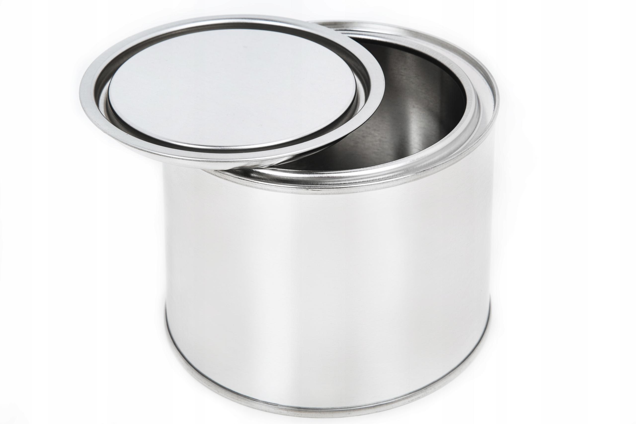 Puszka Metalowa 0,5L z pokrywa (Ocynk) Pusta