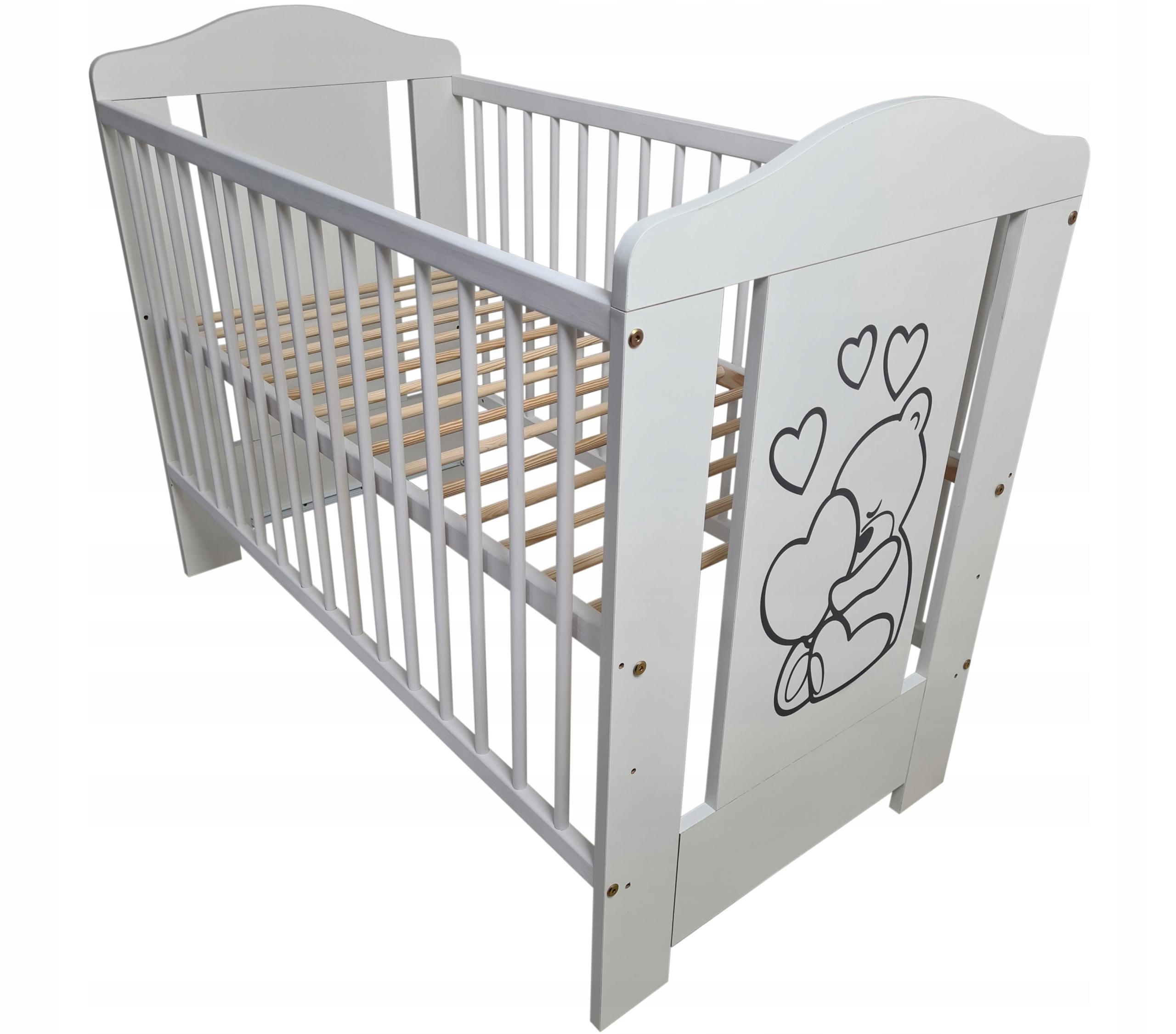 Детская кроватка 60x120cm - Miro White
