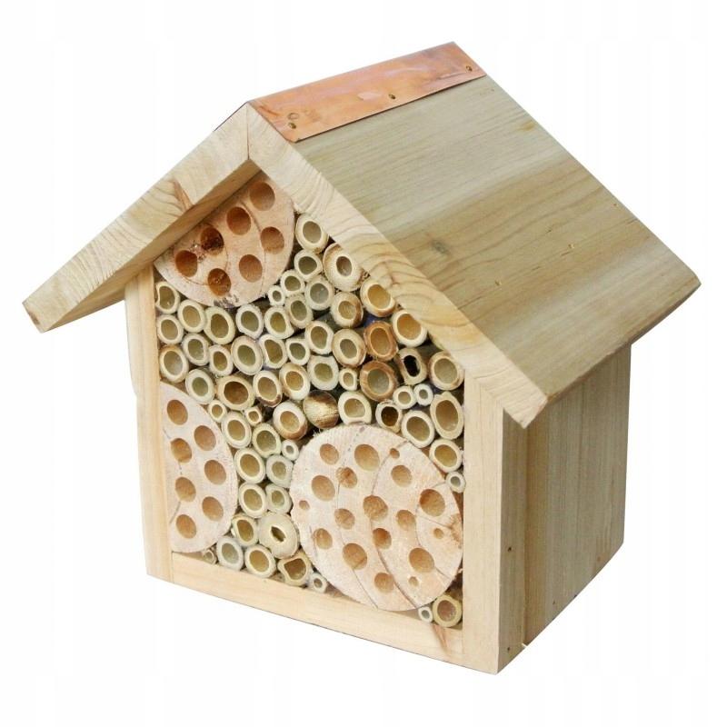 Деревянный домик для насекомых 21x19x20см