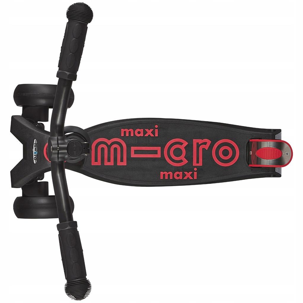 Sportowa Hulajnoga Maxi Micro Deluxe PRO Black/Red Kolor Czarny Czerwony