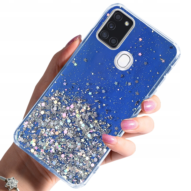 Etui CASE BROKAT + SZKŁO 9H do Samsung Galaxy A21S
