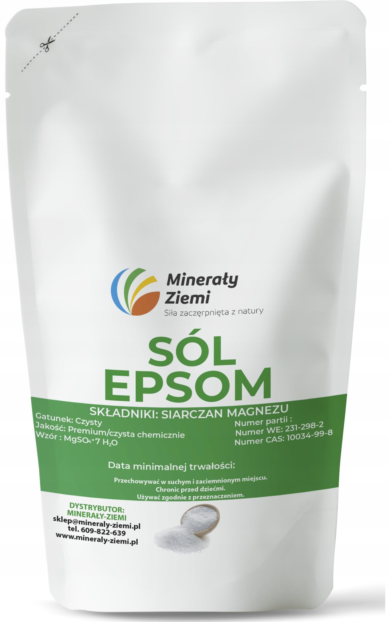 Bitter Salt sulfát horečnatý EPSOM 5KG Super Kvalita
