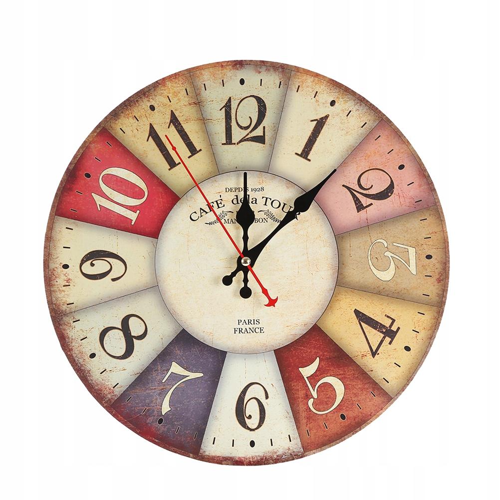 Európske retro nástenné hodiny okrúhleho tvaru Go