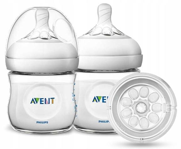 AVENT Anti-kruhová fľaša 125 ml Prírodný + cumlík