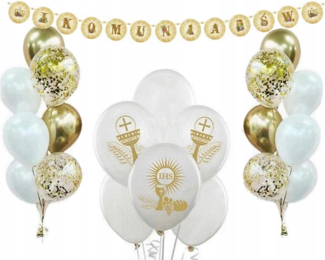 Первый причастий и украшения общая воздушные шары