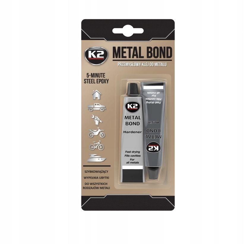 K2 METAL BOND 56г Двухкомпонентный металлический клей