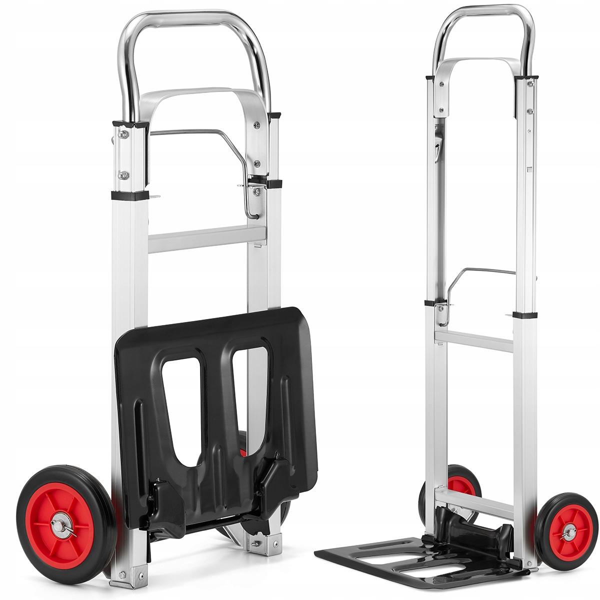 Wózek magazynowy transportowy składany alu 90kg