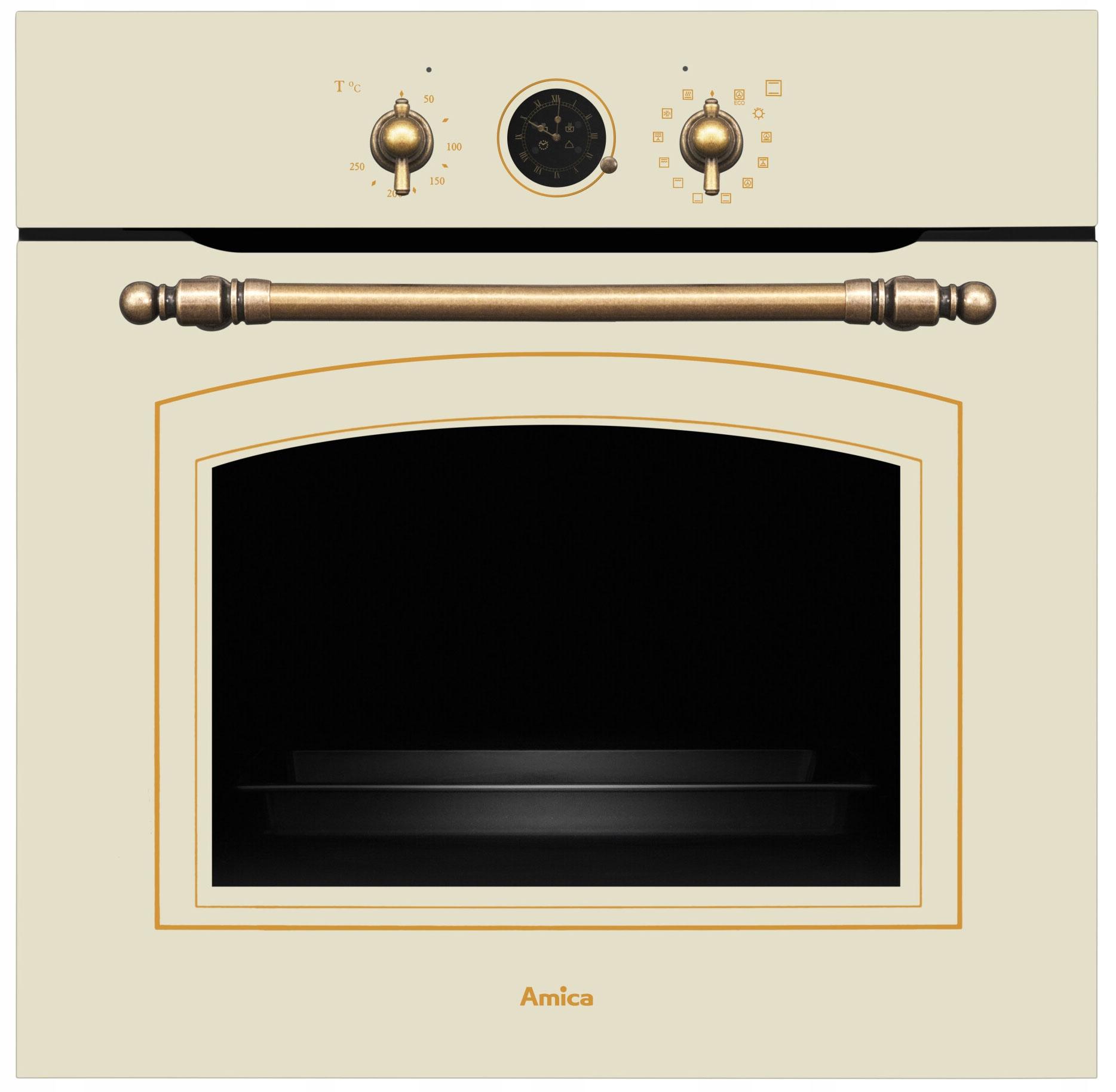 Rúra na pečenie Amica ED 17319W RETRO 77l 60 cm béžová