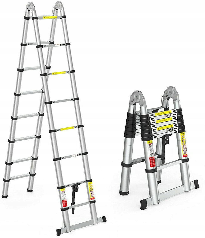 Лестница телескопическая алюминиевая складная 5 м