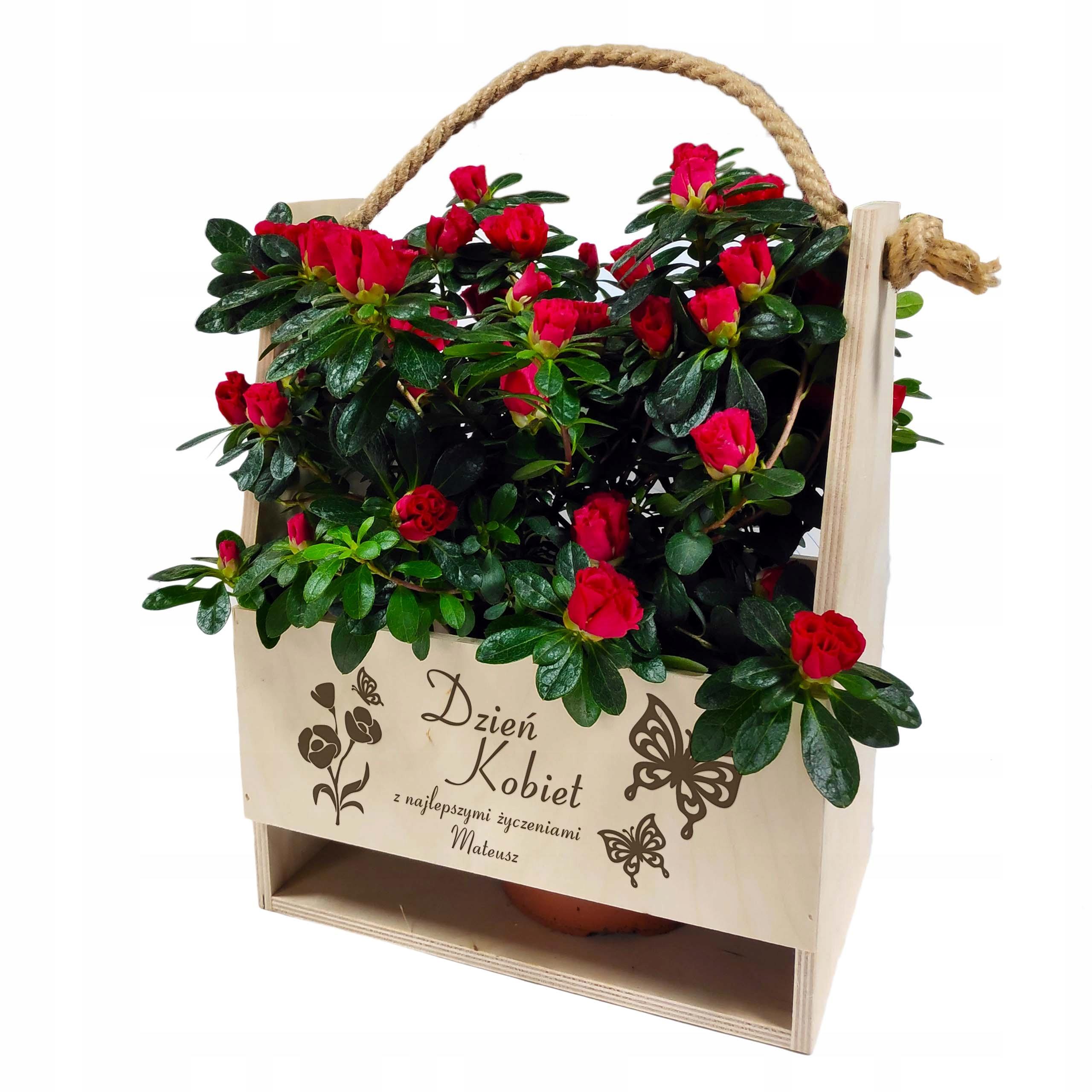 Skrzynka Nosidło na kwiaty prezent z grawerem
