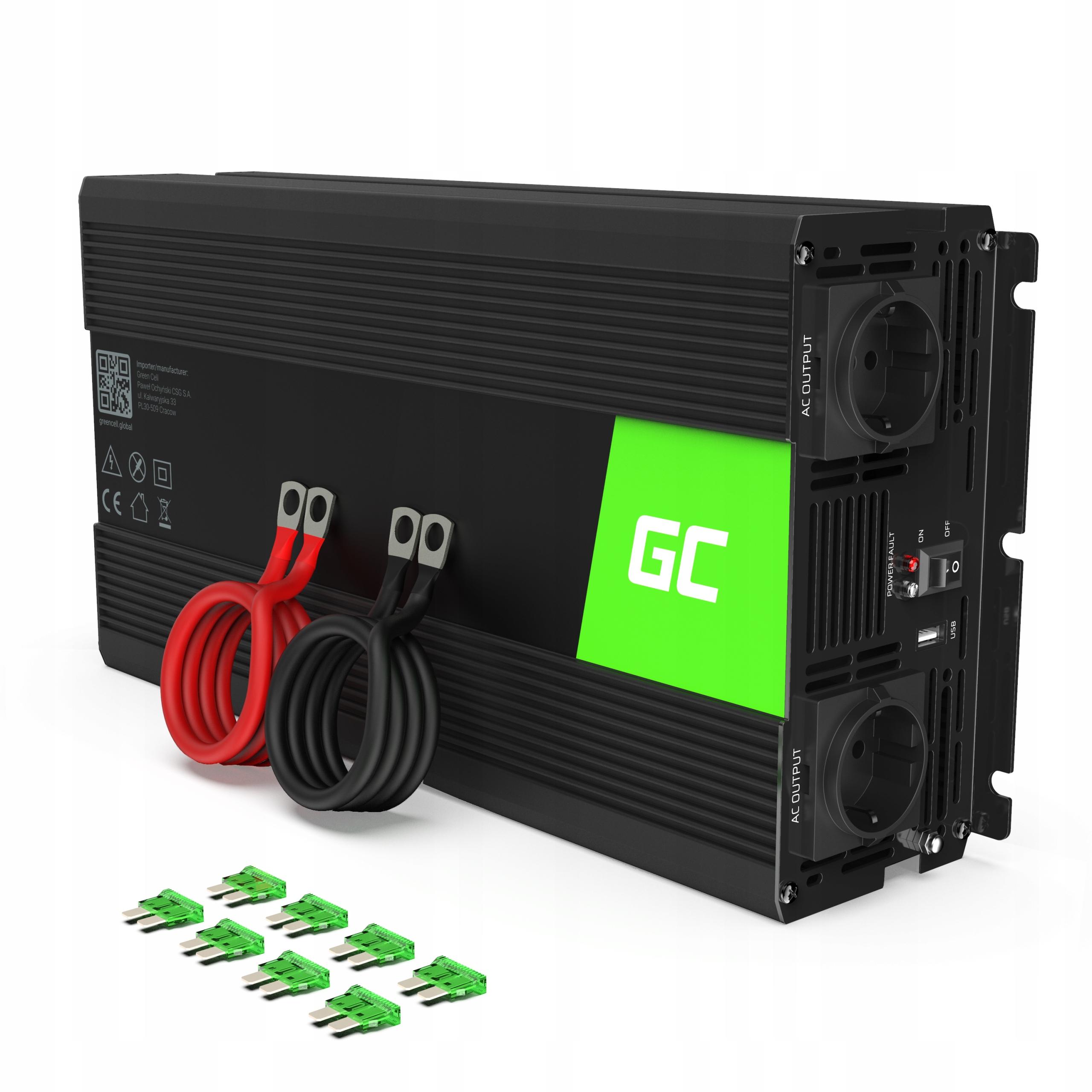 Green Cell инвертор напряжения от 12 В до 230 В 3000 Вт 3 кВт