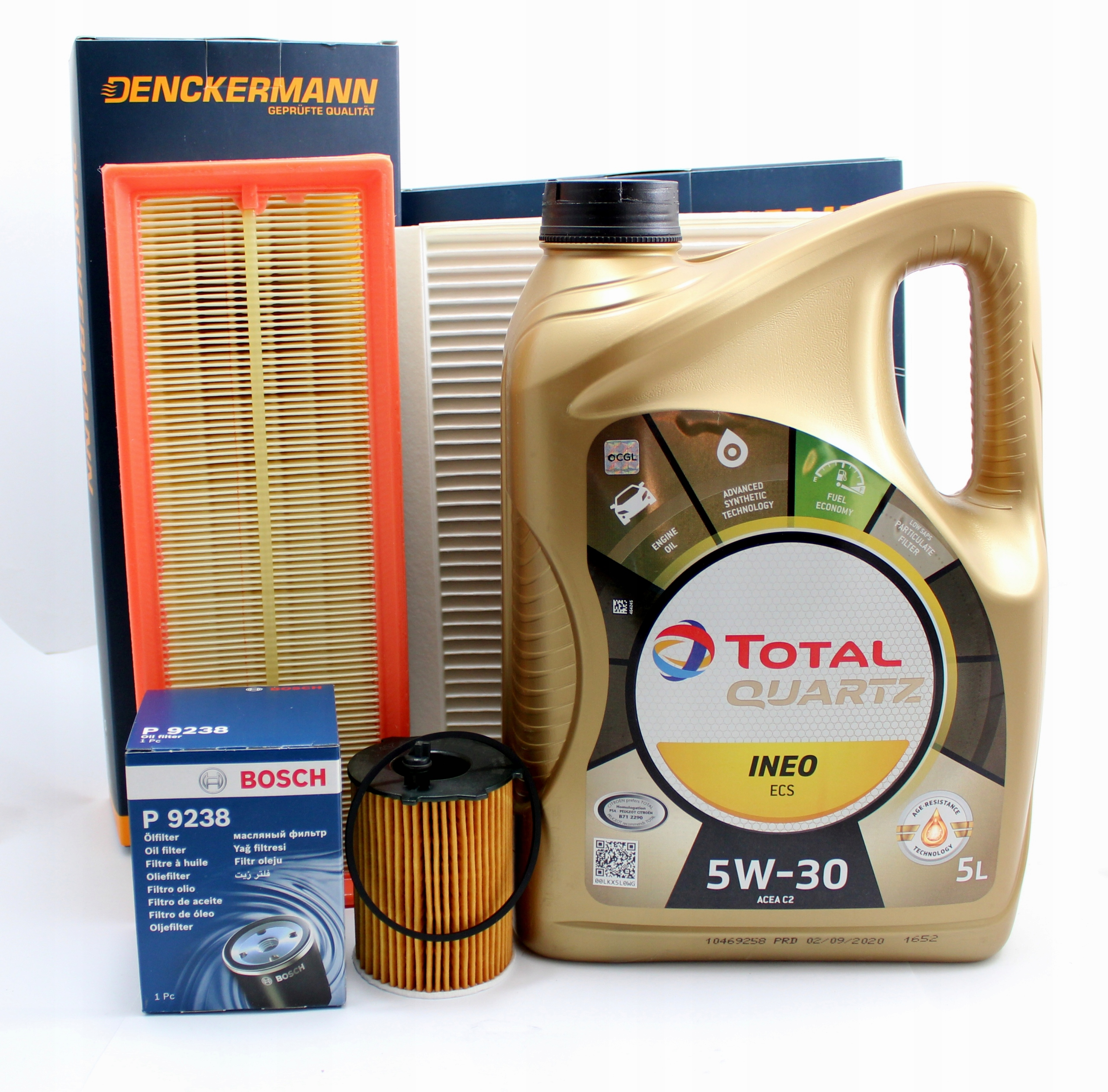 фильтры +olej total5w30 5l citroen c3 c4 16 hdi