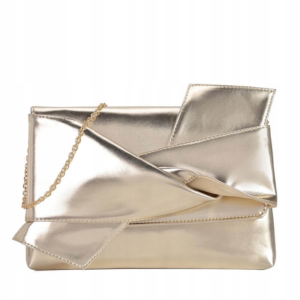 Zlatá večerná kabelka lesklá v RETRO štýle