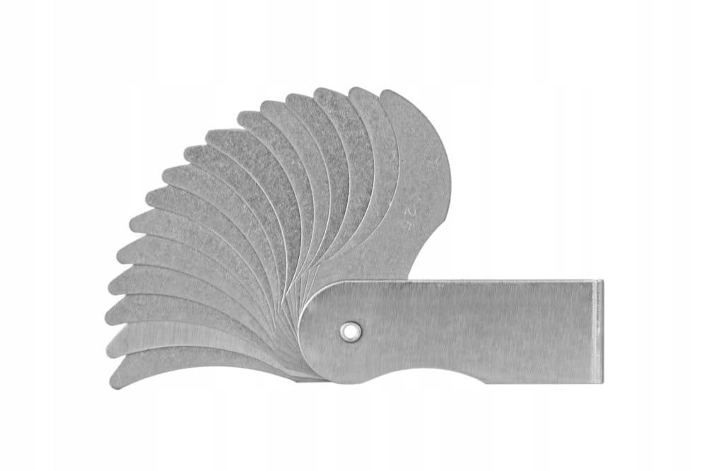 Plochý polomer s 52-100 mm ray vzorov