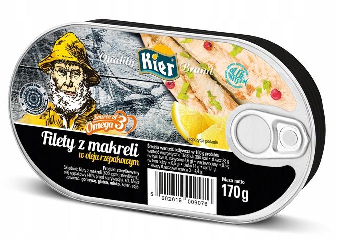 Makrela filé v Oleja Omega3 Červy 12x170g