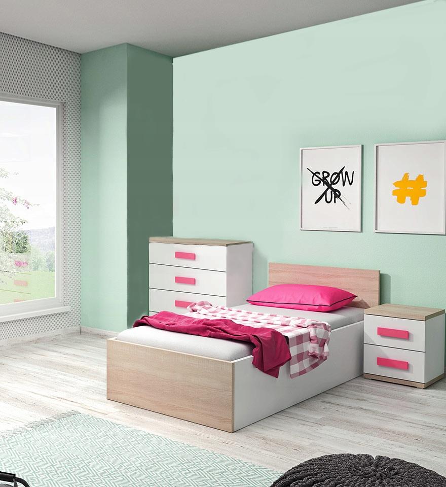 Duo3 nábytok pre škôlky posteľ s matracom