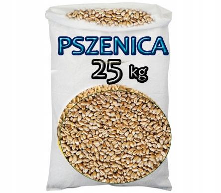 pszenica ziarno karma pasza zboże kur gołębi 25 kg