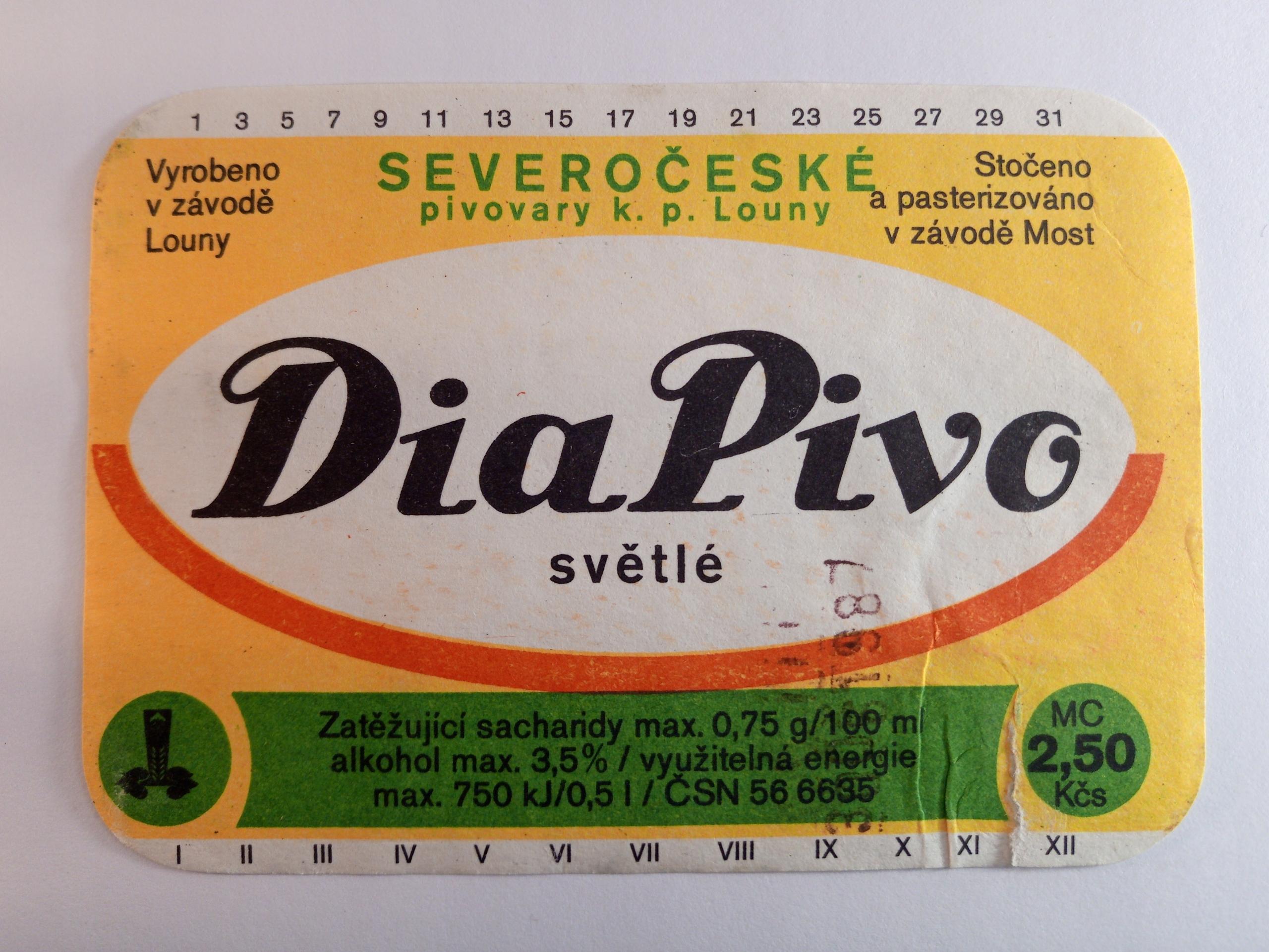 SEVEROCESKE PIVOVARY LAGE UNDER LOUNY DIA PIVO