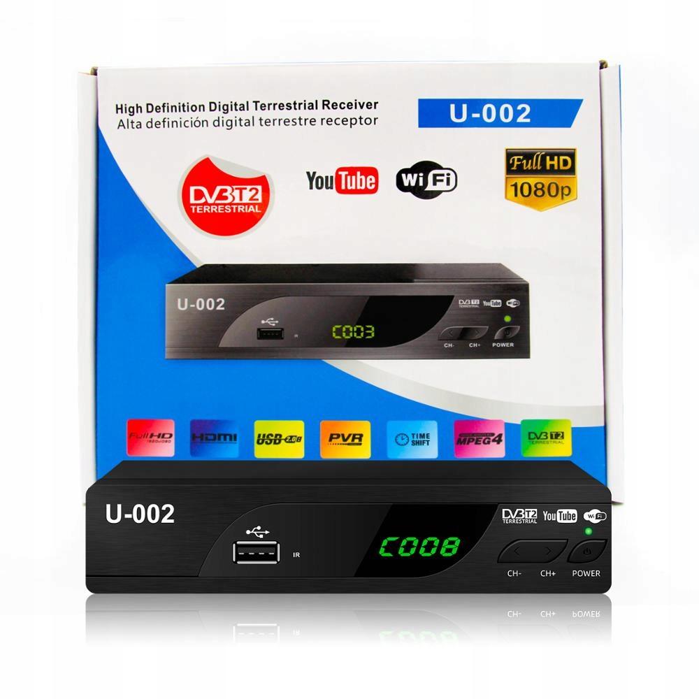 DEKODER DVB-T2 NAZIEMNA TELEWIZJA Z YOUTUBE I WIFI 9724981521 - Sklep internetowy AGD, RTV, telefony, laptopy - Allegro.pl