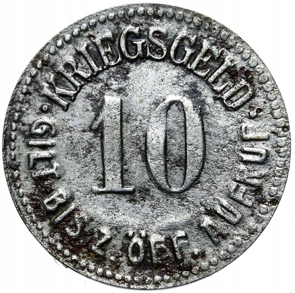 + GLATZ KŁODZKO - NOTGELD - 10 PFENNIG 1920 Želez