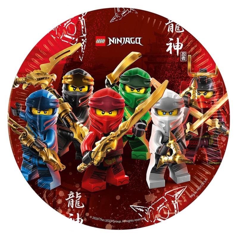 Talerzyki Papierowe Lego Ninjago-23 cm-8 sztuk