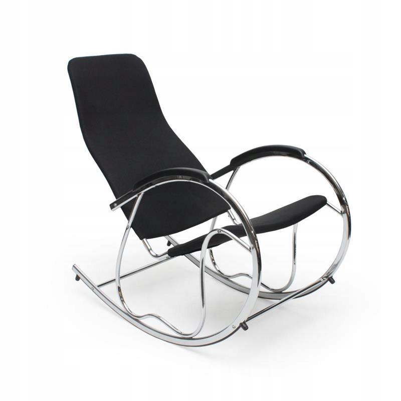Hojdacia stoličky Ben Bujak black chrome textílie Halmar