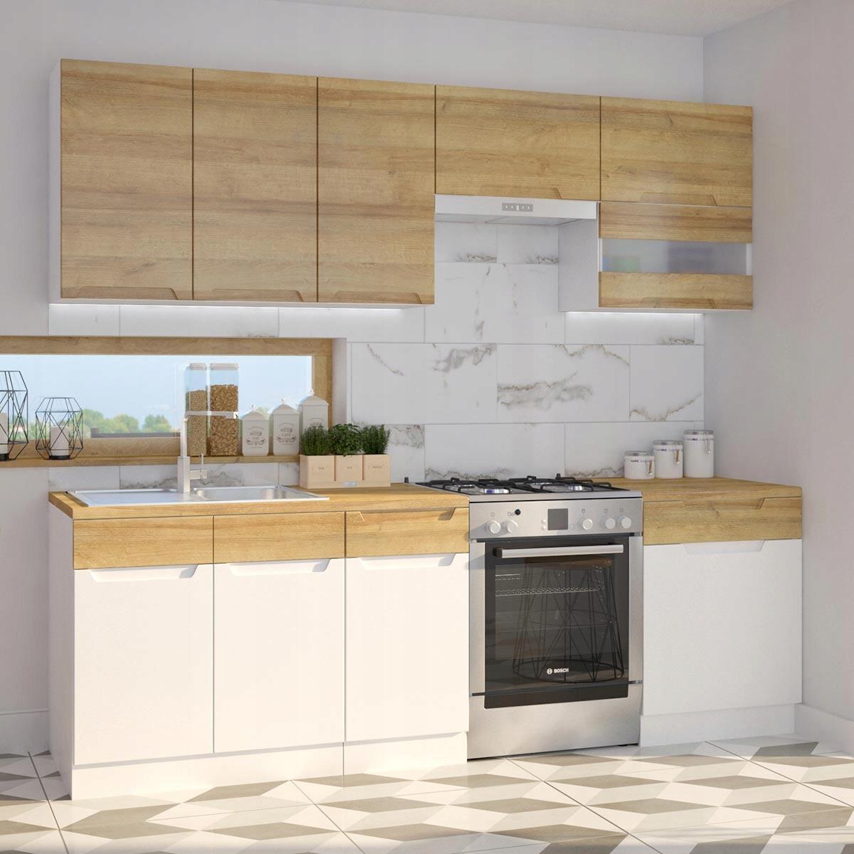 Bella kuchyni A časti s, šírka 240 cm
