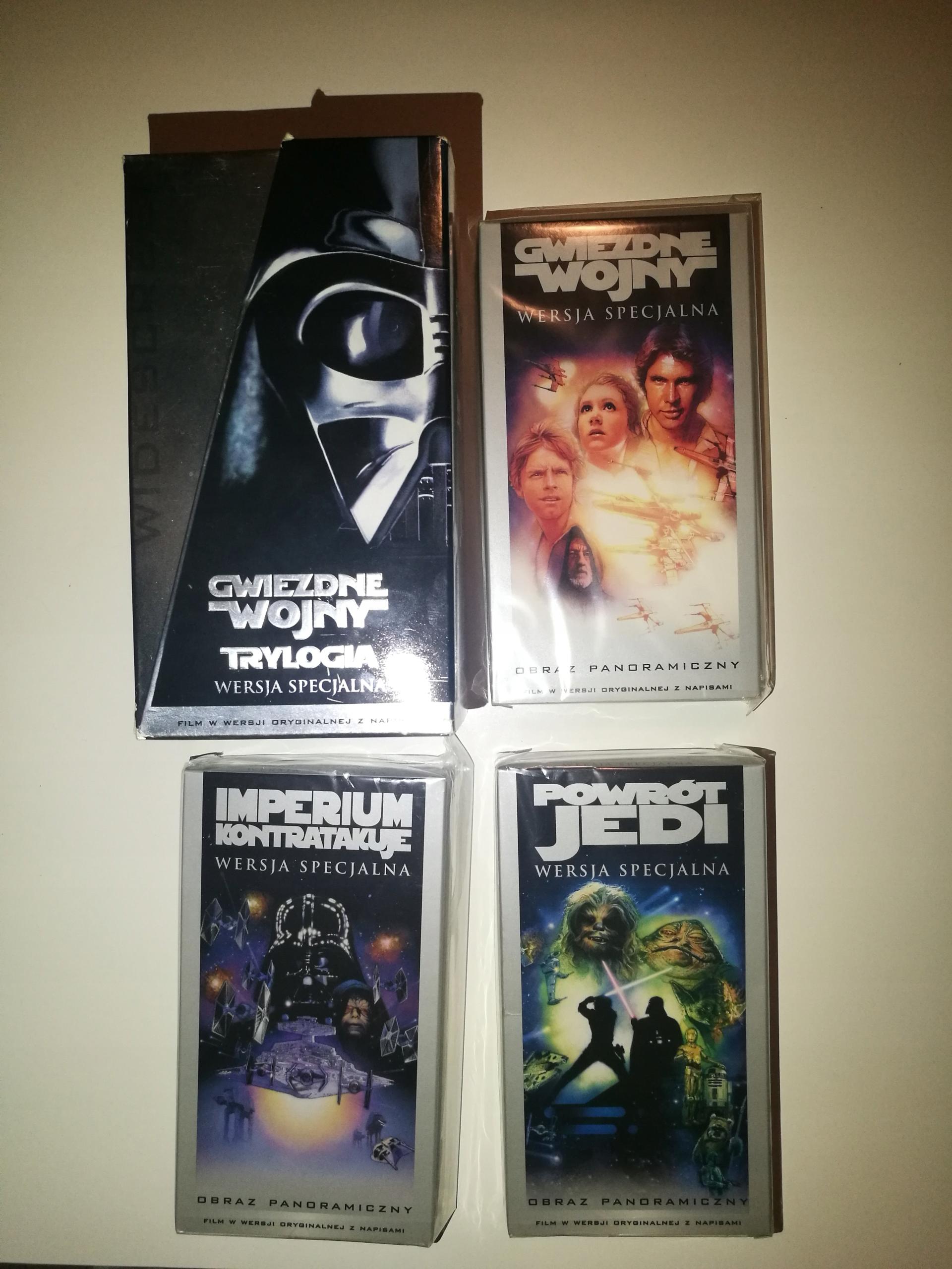Item A set of VHS tapes Star Wars Star Wars Trilogy