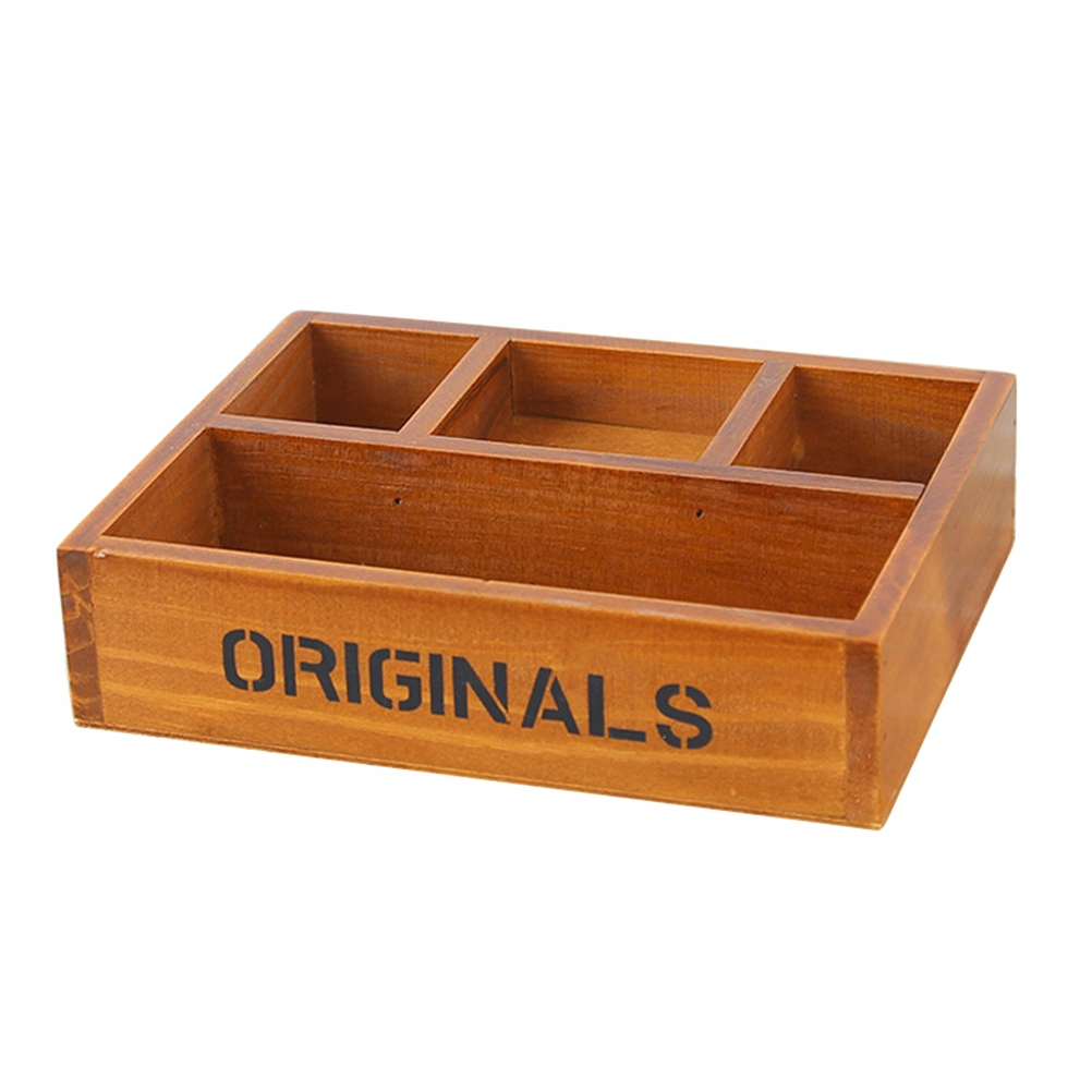 Retro drevená schránka na drobnosti Pouch Holder Pi
