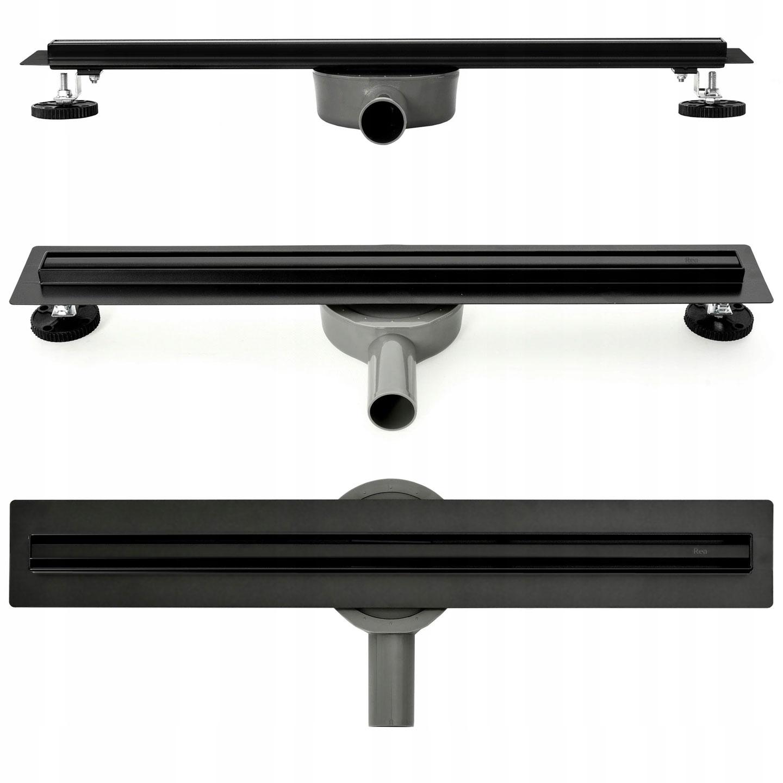 Lineárny otočný odtok Slim Neo Pro Black 100 cm