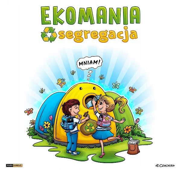 eko gra kopertowa dla dzieci EKOMANIA segregacja Wysokość produktu 32 cm